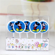 5pc mickey mouse party decorations Candles Kids Birthday Evening Party Supplies Baby Shower Set