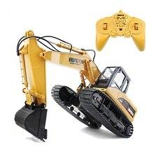 HuiNa 1550 RC Crawler Car 15CH 2 4G 1 14 RC Metal Excavator Charging 1 12