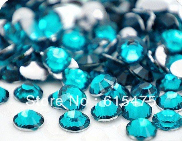2mm Azul Zircon Cor SS6 strass Resina cristal flatback, Frete Grátis 100,000 pçs/saco