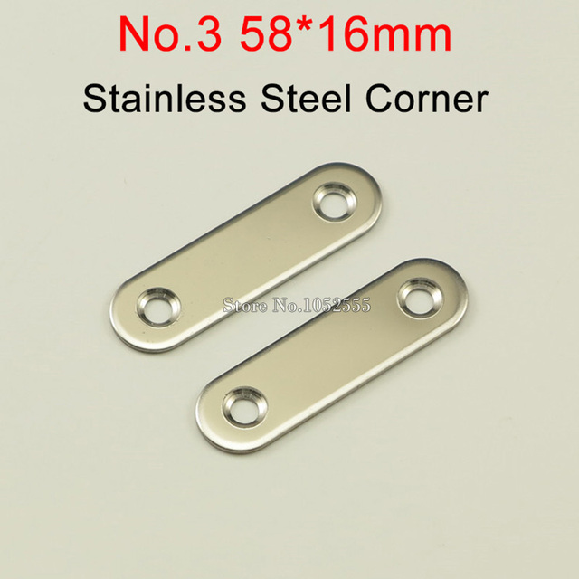 100pcs 58*16mm stainless steel Flat Brackets Straight Line Metal ...