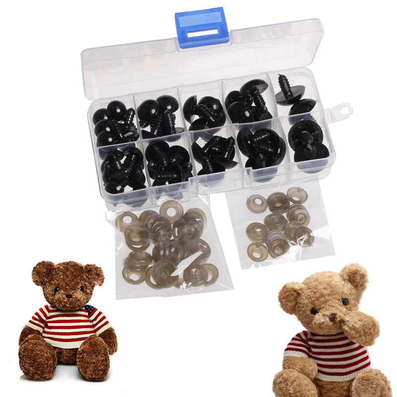 2017 12-20mm Doll Eyes for Bear Stuffed Toys Animal Scrapbooking Puppet Craft 52PCS APR24_17 fancytrader biggest in the world pluch bear toys real jumbo 134 340cm huge giant plush stuffed bear 2 sizes ft90451