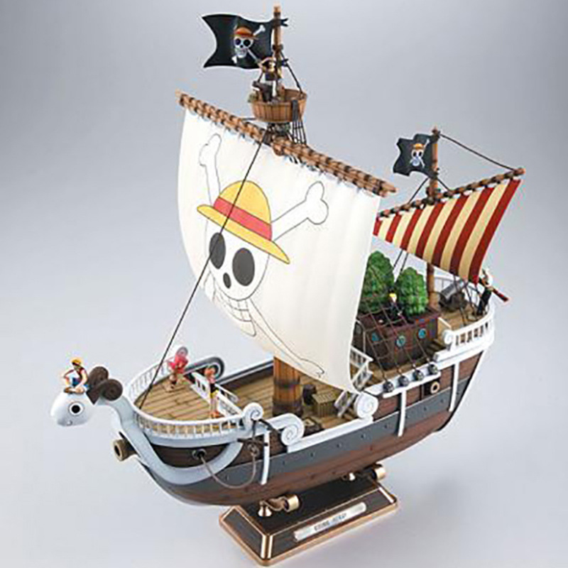 ALEN Anime One Piece Meryl Pirate ship Figure 35cm Meryl Boat ship Pirate ship PVC Action Figure Collectible Model Toy Christmas new hot christmas gift 21inch 52cm bearbrick be rbrick fashion toy pvc action figure collectible model toy decoration