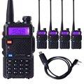 Baofeng uv5r uv-5r 2 two way radio dual band vhf uhf estação de rádio walkie talkie transceptor de rádio amador