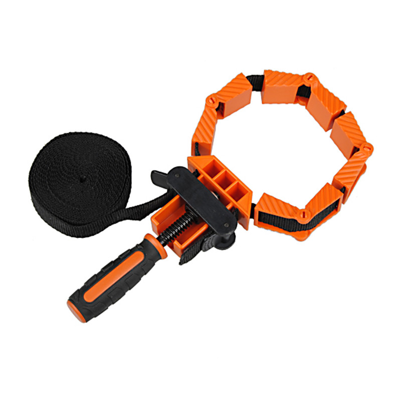 Multi-Function Nylon Binding Belt Clamp Polygons Angle Clip With 4M Long Belt Non Skip TPR Handle Woodworking Tool