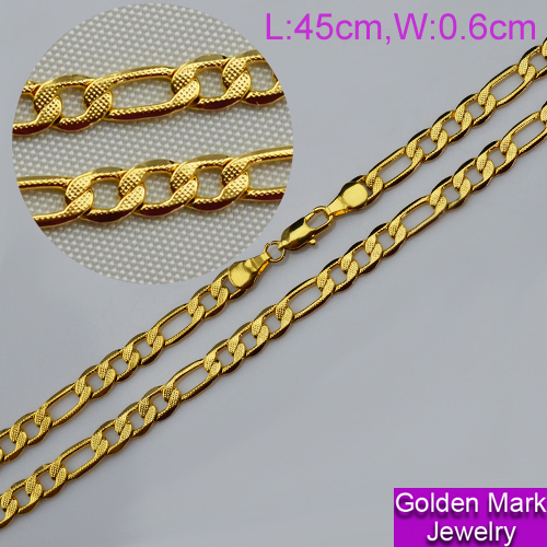 18k gold plated chain Dubai fashion charm necklaces for woman and