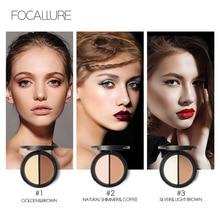 FOCALLURE 2 color in 1  Highlighter & Contour Powder Palette 3D Contouring Make Up Face Pressed Makeup set