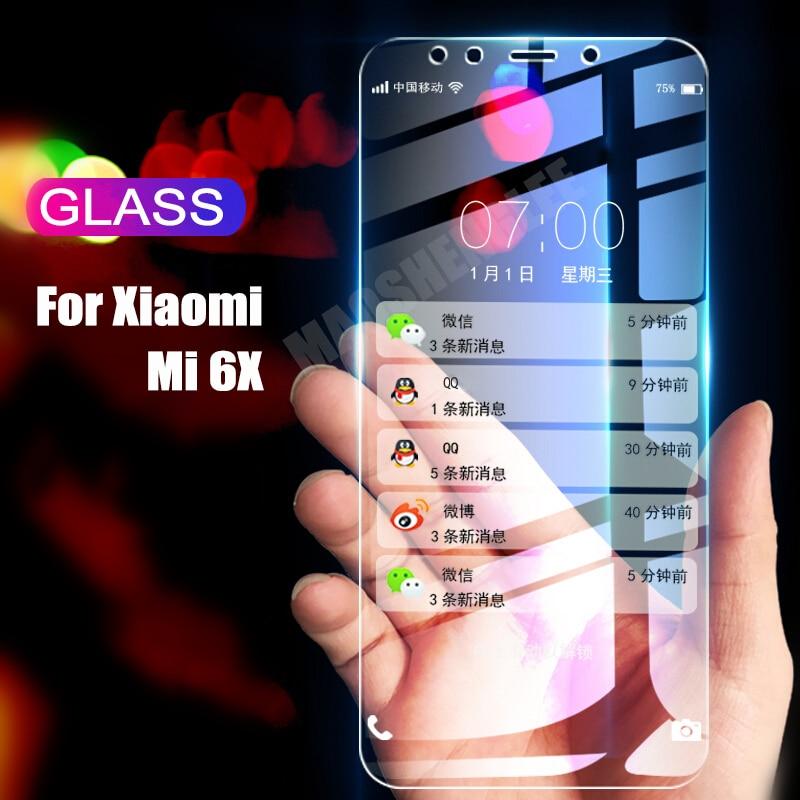 2Pcs/lot Full Tempered Glass For Xiaomi Mi 6X Mi A2 Screen Protector 9H 2.5D Anti Blu-ray Toughened Glass For Xiaomi Mi 6x Mi A2