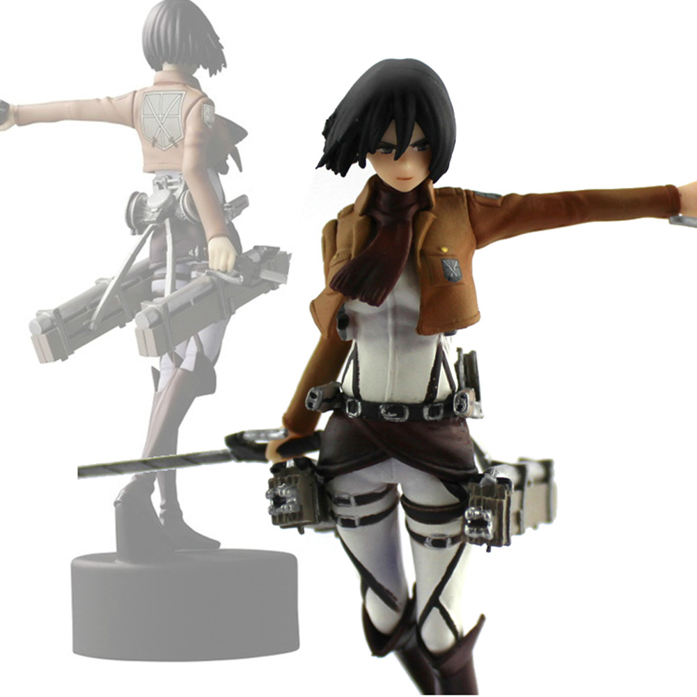 4.7 Shingeki No Kyojin Mikasa Ackerman Figure Attack On Titan PVC Action Figure Toy High Quality Kids Trendy Gift attack on titan shingeki no kyojin acrylic keychain action figure pendant car key accessories key ring jjjr006 ltx1