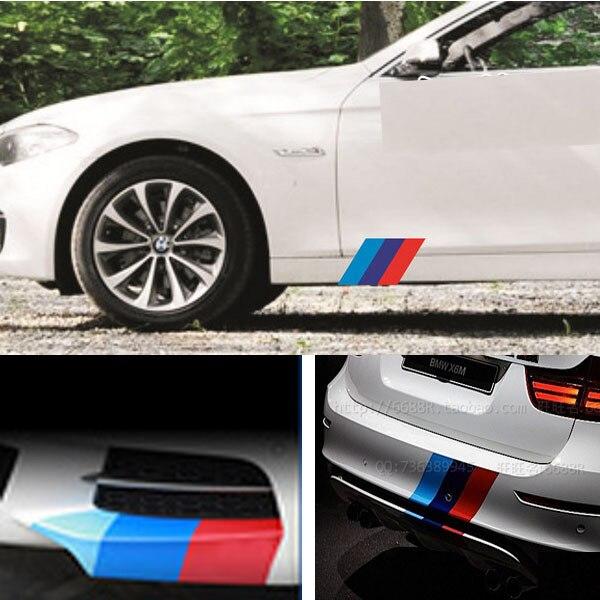 3colors kk m performance car body sticker for bmw e36 e46 e60 e90 f10 f20 f30