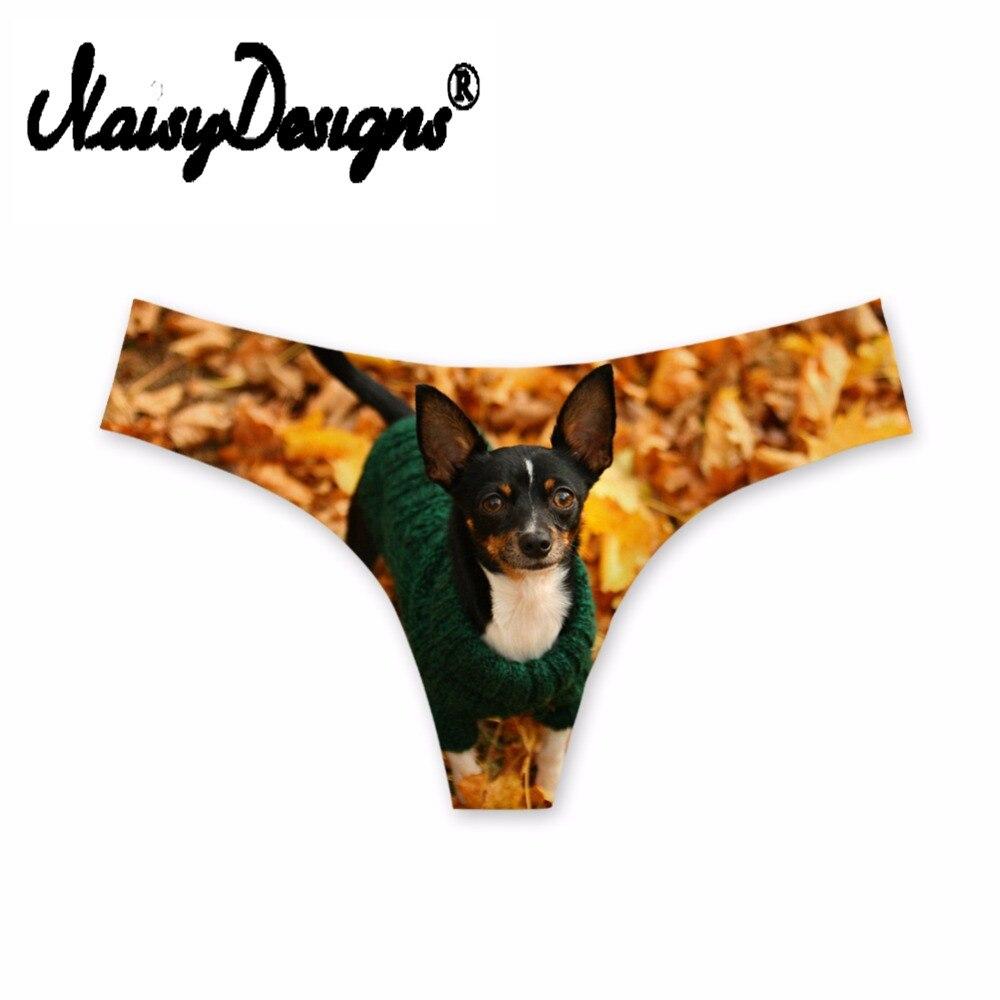 Buy NoisyDesigns Sexy 3D Chihuahua Dog Print Women G String Thong Low Waist Tanga Briefs  Panties Ladies Seamless Lingerie Underwear