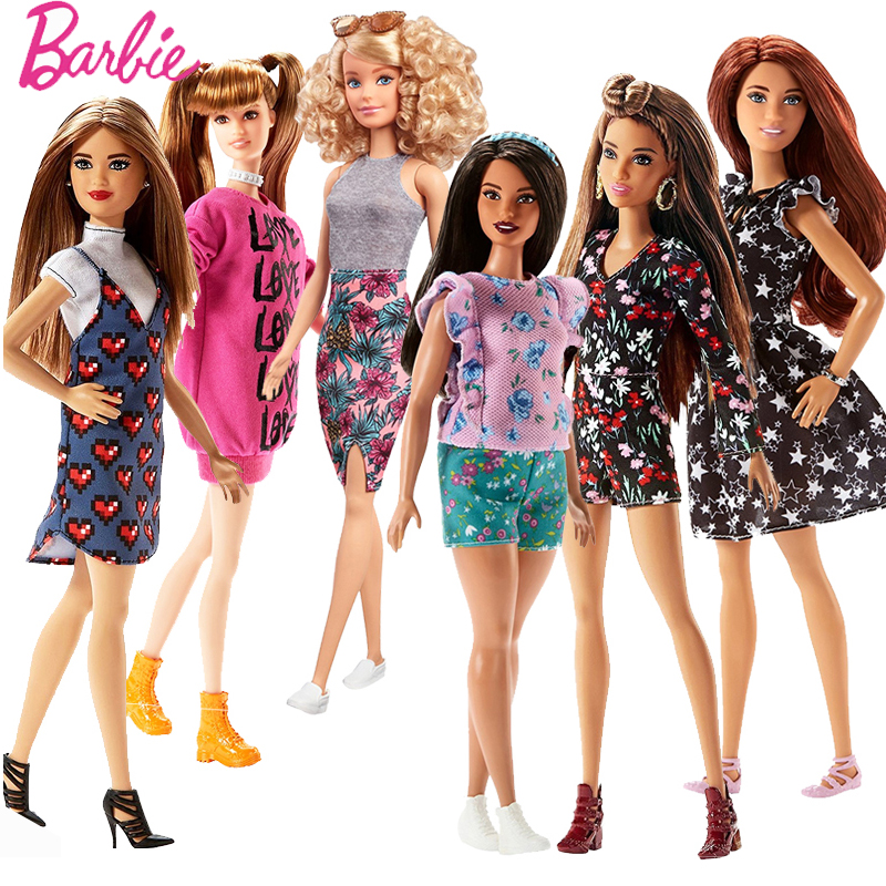 Barbie Original Dolls Brand Assortment Fashionista Barbie Girl Fashion Doll Princess Kids Toys Birthday Gift Doll bonecas barbie originais hair feature doll house coloring activity american girl dolls barbie dolls brinquedos boneca children gift fbh6