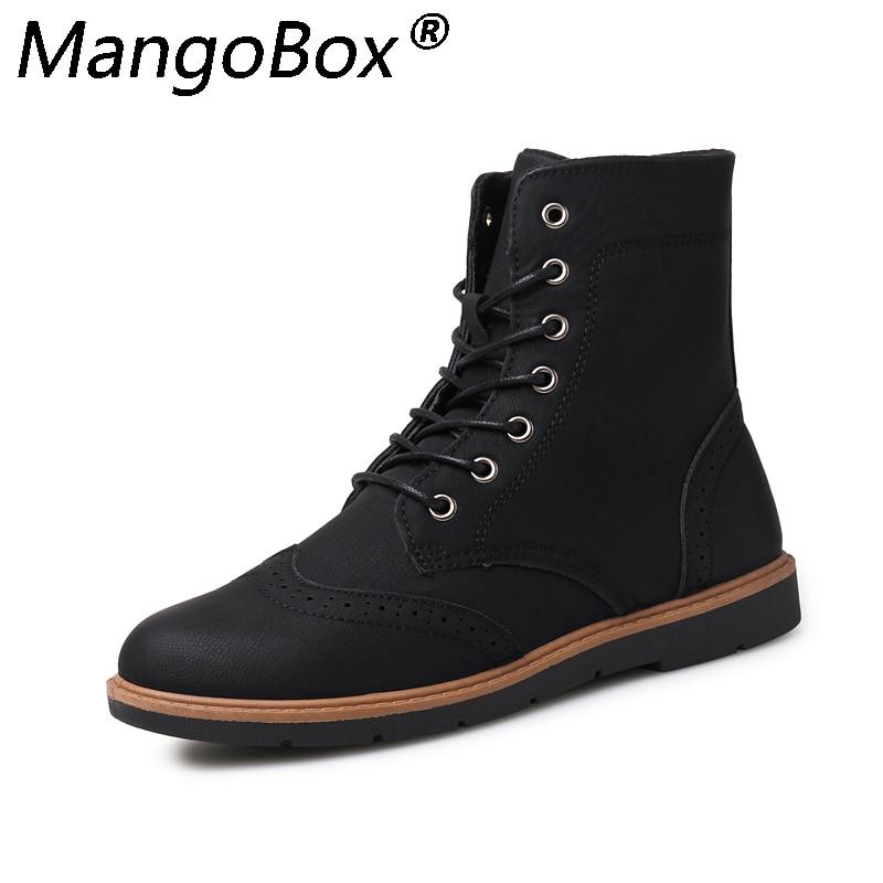 Luxus Mens Hohe Leder Stiefel Neue Mode Frühjahr Schuhe für Männer Bequeme Jungen Junge Casual Stiefel Wearable Kühlen männer schuhe