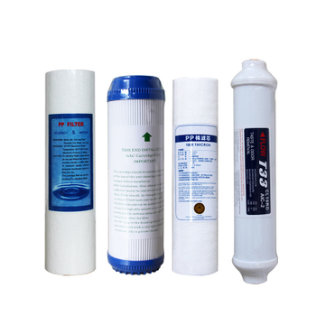 4pcs filter 10 reverse osmosis ro water filtro t33 cartridge coconut coal pp cotton  system parts