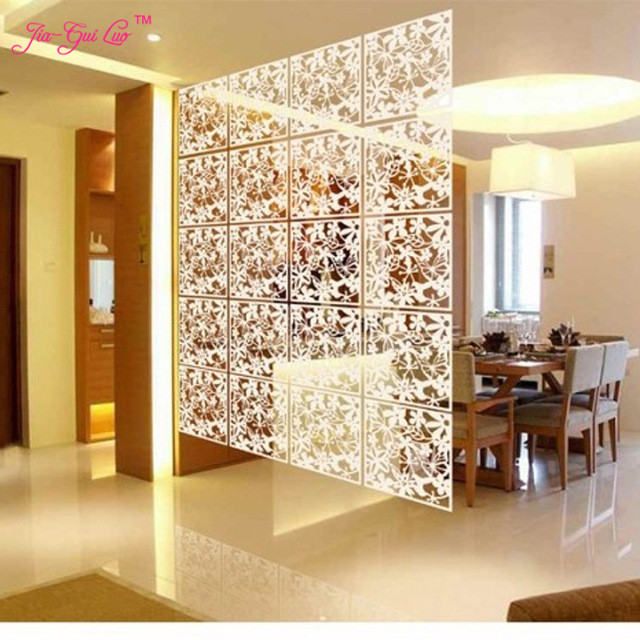 Jia Gui Luo Folding Screen Room Divider Plastic Partitions Shield For Rooms Decorative Hanging Room