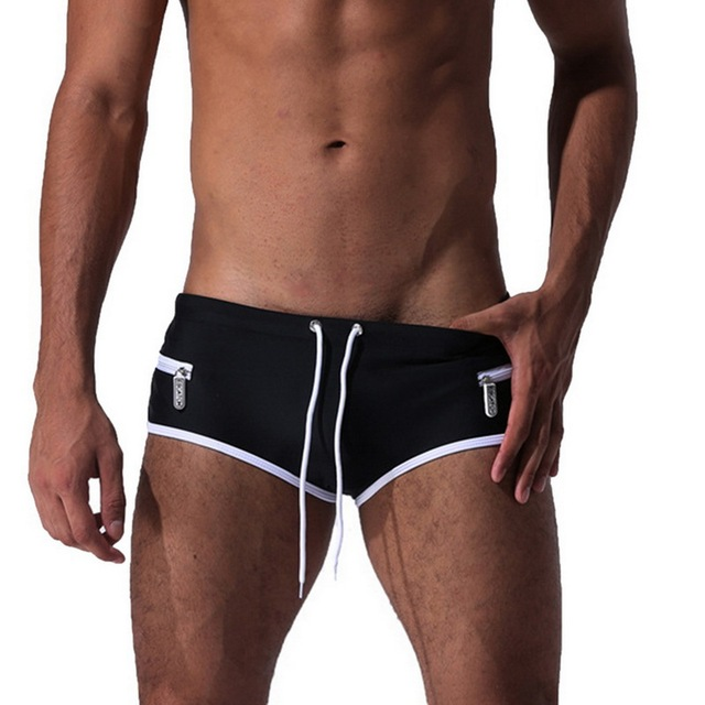 2019 New Men Sexy Swimwear Swimming Trunks Hot Swimsuit Mens Solid Swim Briefs Beach Shorts Mayo De Praia Homens Maillot De Bain