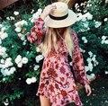 Pôr do sol do amor das mulheres de cetim de seda burnout açafrão floral mini dress manga comprida a linha fit mini dress decote aberto sexy festa dress