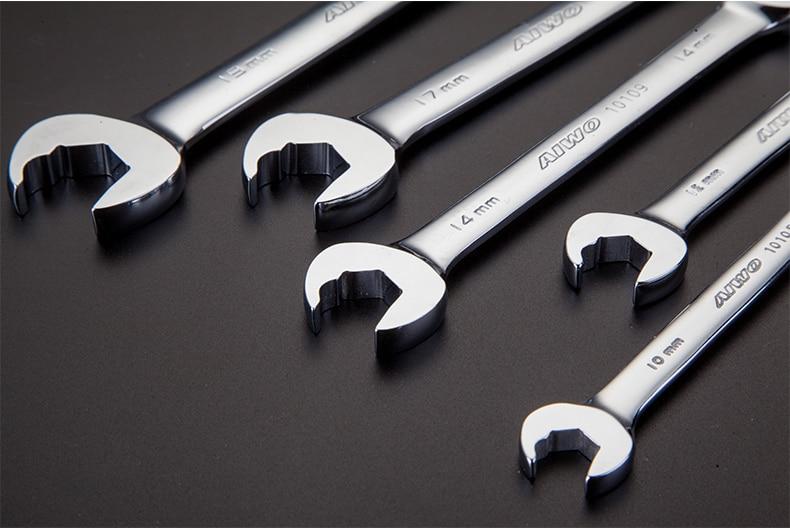 Roue libre cliquet SW 15 mm Cliquet Clé Roulement à billes à Tête Hexagonale Clé