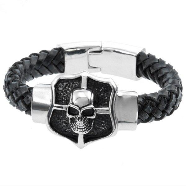 MB 215 Men Bracelet 23CM 316L Stainless Steel Jewlery Men Gift Jewelry Skull Skeleton Silver Bangle,Fahion, modern, wholesale