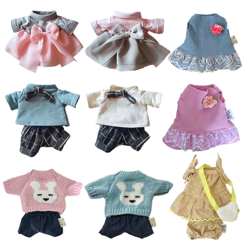 30cm Doll Clothes For Rabbit/Cat/Bear Plush Toys Dress Skirt Sweater Clothes Accessories For 1/6 BJD Dolls Gifts For Children