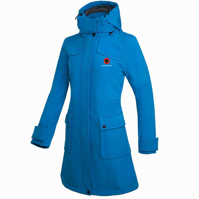 Winter Women Soft shell Windproof Fleece Warm Jacket Long Coat Hiking Skiing Waterproof Outdoor Women Breathable Anti-UV Jacket