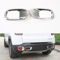 YAQUICKA 2Pcs Auto Car Exterior Rear Back Fog Light Cover Cap Trim Frame Styling Mouldings For 2015-2016 Renegade Accessories
