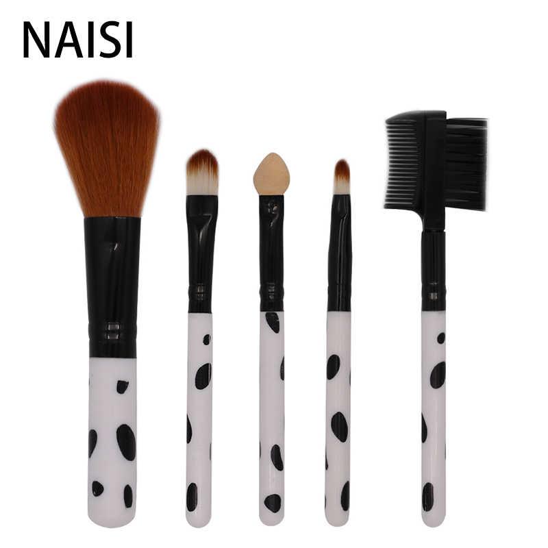 Naisi 5 шт. Профессиональные кисти для макияжа набор кистей для макияжа Набор инструментов для основы теней для век Смешивание бровей натуральные синтетические волосы