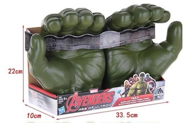 Cool Kids Presentes do Brinquedo de Plástico Luvas De Mãos De Modelos Hulk Marvel Filme The Avenger Super Heroes Ação Anime Figura cosplay