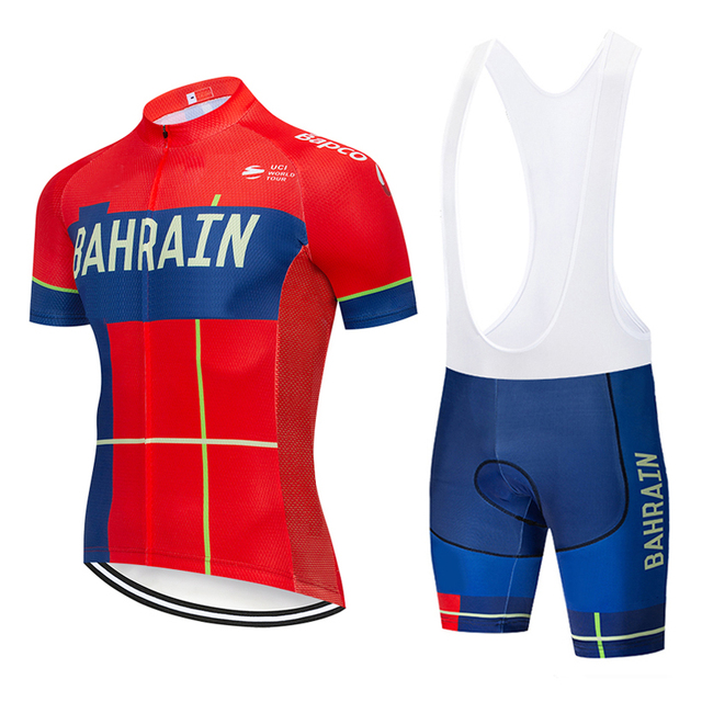 804b58c4b 2019 TEAM BAHRAIN PRO cycling jersey 9D gel bike shorts suit MTB Ropa  Ciclismo mens summer