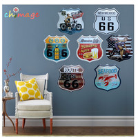 Metallo targhe in metallo Route 66 Vintage Hot Road Sign In Rilievo Garage Pub Home Decor Craft Pittura Murale Decorazioni