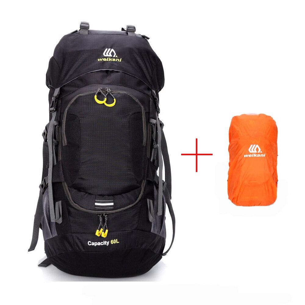 Sac à dos plein air sac de camping 60l hommes avec réflexion de la lumière imperméable à l'eau sac à dos de voyage homme camping sacs de randonnée sac à dos sport