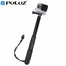 For Go Pro Accessories Extendable Self-portrait Handheld Telescopic Monopod Holder Selfie Stick for GoPro HERO4 Session 4 3+ 3
