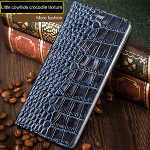 Image 3 - wangcangli brand phone case genuine leather crocodile Flat texture phone case For Huawei p8Lite handmade phone case