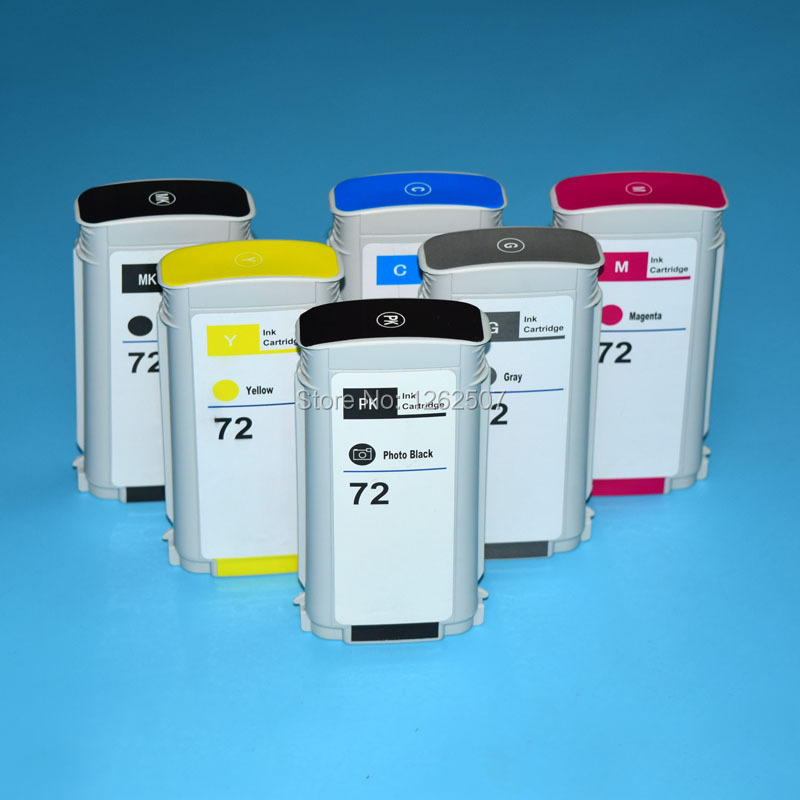 Empty compatible ink cartridge for hp 72 One time used ink cartridge with compatible chip for hp T610 T770 T1100 T2300 T790 4 color permanent chip for hp 685 for hp 3525 4615 4620 5525 4625 printer cartridge chip