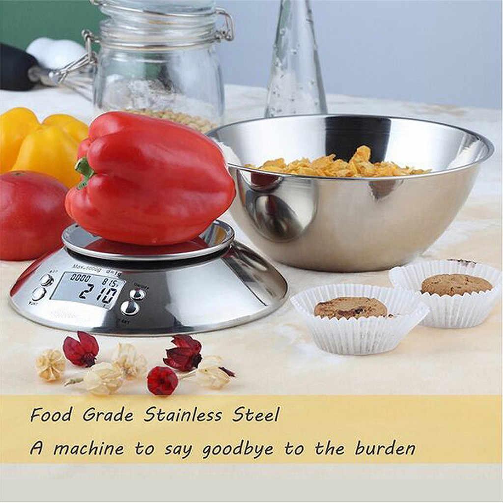 家庭用防水デジタルキッチンスケール 5 10 15 キロビッグ食品ダイエット重量バランススリムステンレス鋼電子スケール 5pz