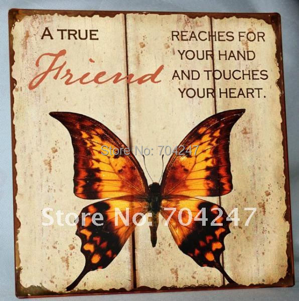 2014 FREE SHIPPING antique shabby wall Murals /metal signs