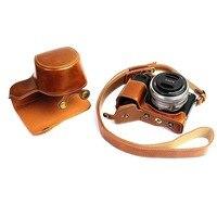 DSLR Камеры Кожи Сумка обложка Для Sony A6300 A6000 16-50 мм длинный Объектив Фото Сумка