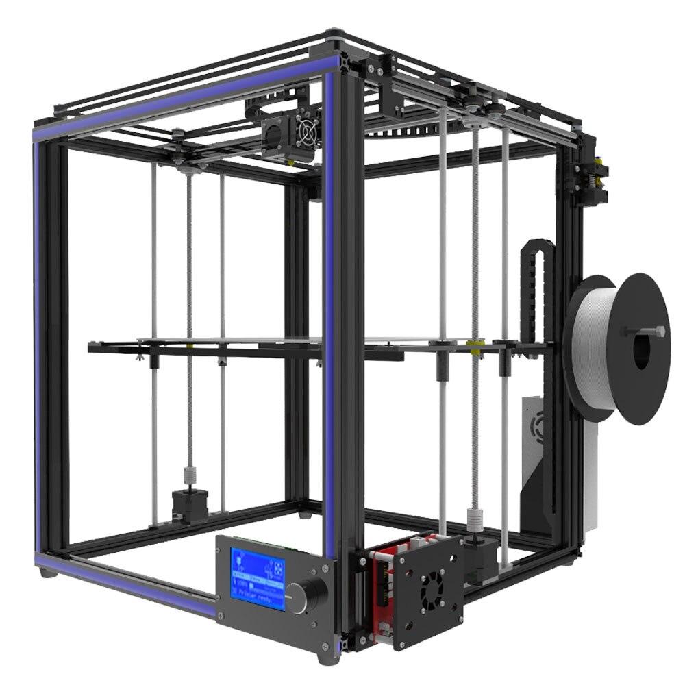 Tronxy Grande taille zone D'impression 3D imprimante X5S DIY kits en aluminium profil joint 12864 LCD contrôleur bowden extrudeuse Grand heatbed plaque