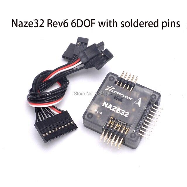 Naze32 Naze 32 Rev6 6DOF / 10DOF with Mag and Baro Sensor Rev6 Black Straight Side Pins For Nova 235mm Wizard X220 Quadcopter