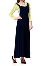 Muslim Women's cotton t shirt and strap dress set Turkey Hijab Arab Turkish Worship abaya two-piece dress exotic