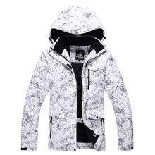 Men and Women Snow Jackets Snowboarding Clothing Winter Outdoor Sports skiing Coats Waterproof -30 Warm Costume white and black cheap ARCTIC QUEEN COTTON 1066 Hooded Fits true to size take your normal size Windproof Breathable