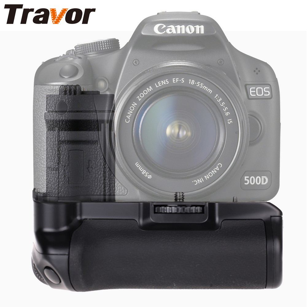 Travor Battery Grip for Canon 500D 450D 1000D work with LP E5 or Six AA Battery