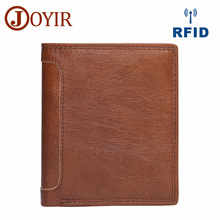 JOYIR  Wallets Leather Men Wallet With Coin Pocket Vintage Male Purse Cow Genuine credit card Holder Mens