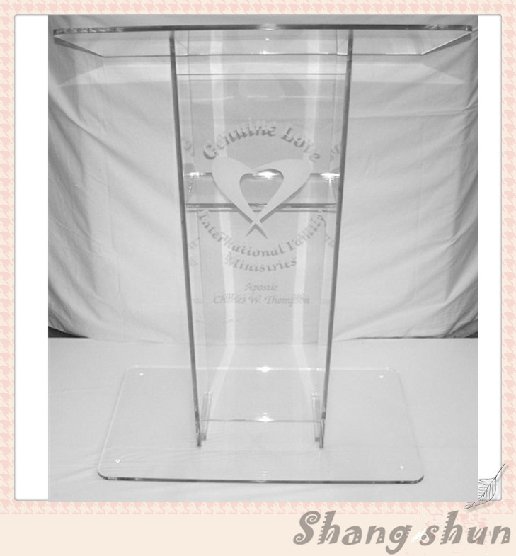 High Quality Customized Acrylic Lectern For Church Pulpit / Acrylic Church Lectern Podium Plexiglass