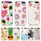Soft TPU Silicone case sFor Apple iPod Touch 5 / 6 case For Apple iPod Touch 5 touch 6 Printed clear Transparent cell Phone Case
