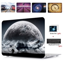 3in1 Printing Laptop Hard Case Shell+Keyboard Cover+Screen Film For Apple Macbook Air Pro Retina Touch Bar & ID 11 12 13 15 inch