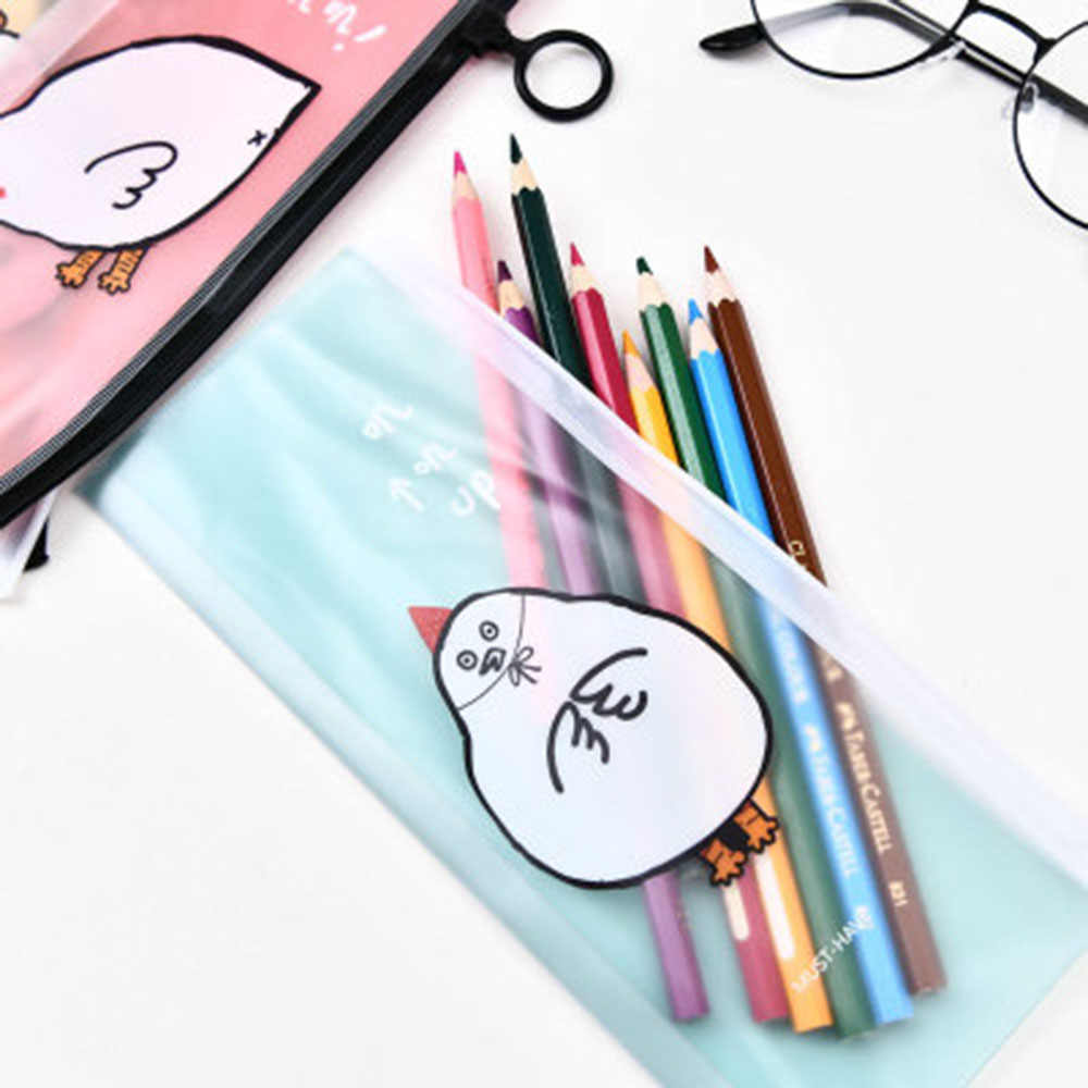 1PC חמוד חומוס PVC עיפרון תיק Kawaii מכתבים ארגונית חמוד עיפרון תיבת לילדים מתנת בית ספר משרד ספקי