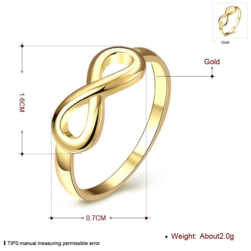Gold Color Infinity Rings Best Sister Best Friend Infinity Knot