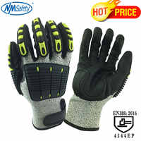 NMSafety Cut Resistant Gloves Anti Impact Vibration Oil TPR Safety Work Gloves Anti Cut Proof Shock Mechanics Impact Resistant