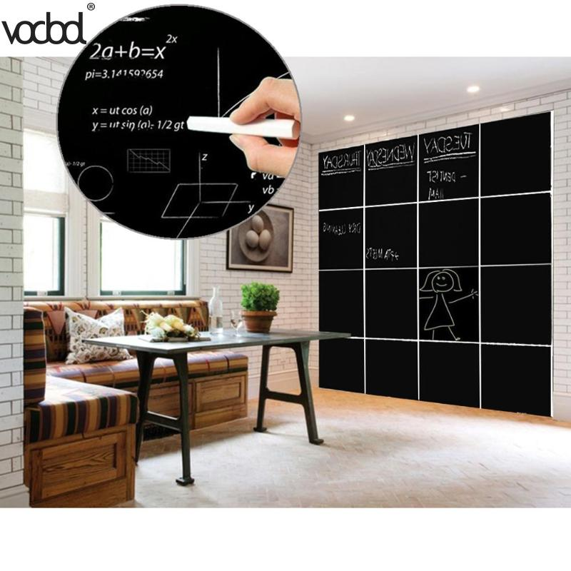 8Pcs 30x20cm Removable Blackboard Stickers Wall Decals Home Office Decorative Black Board Chalkboard Sticker Schook Supplies HOT