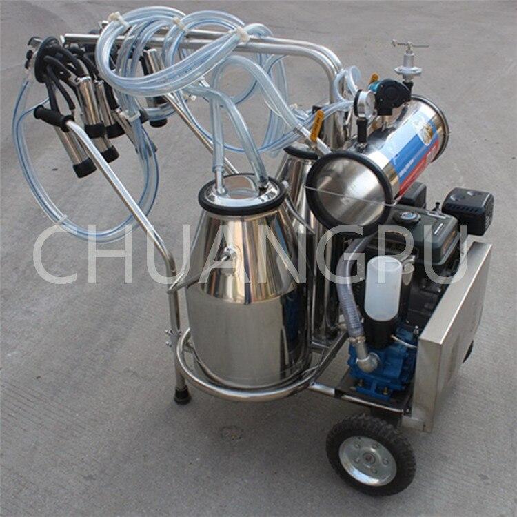 Мобильная Доильная машина для бензинового двигателя с одним ведром, для доения коров, коз